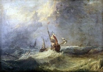 Fishing Boat in a Heavy Sea | Samuel Williamson | oil painting