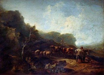 Landscape with Cattle | Samuel Williamson | oil painting