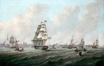 River Mersey and Liverpool   Samuel Williamson   oil painting