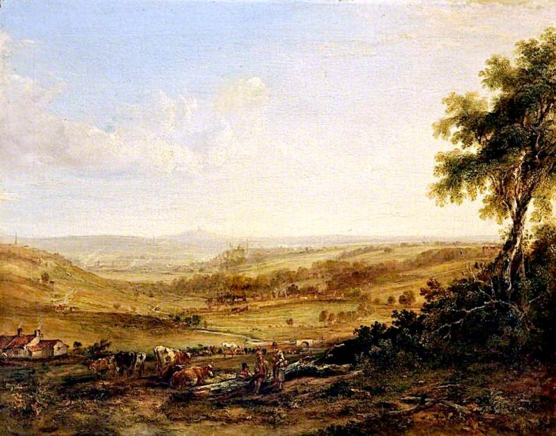 View of Wedgwoods Pottery at Etruria | Samuel Williamson | oil painting