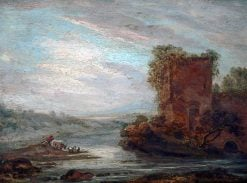 Castle Keep and Moat | Samuel Williamson | oil painting