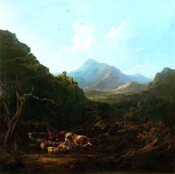 Italian Mountain Landscape | Samuel Williamson | oil painting