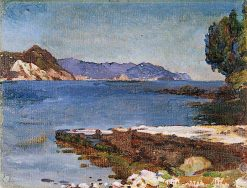The Ligurian Coast from Rapallo | Christopher Williams | oil painting
