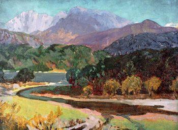 The Snowdon Horseshoe   Christopher Williams   oil painting