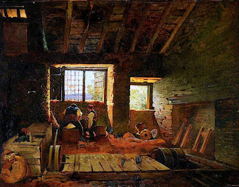 Interior of a Sheffield Grinders Hull | Godfrey Sykes | oil painting
