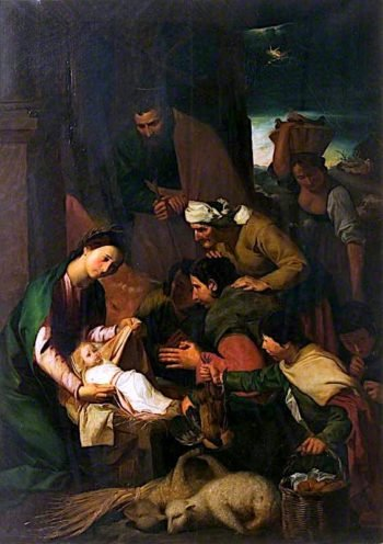 The Adoration of the Shepherds (after Diego Velázquez) | Godfrey Sykes | oil painting