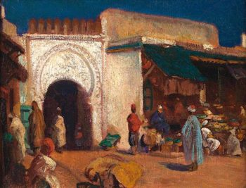 Tangiers   Christopher Williams   oil painting