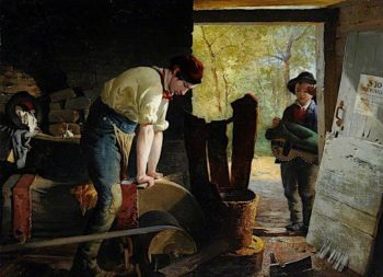 The Two Grinders | Godfrey Sykes | oil painting