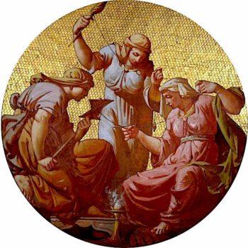 The Three Fates   Godfrey Sykes   oil painting