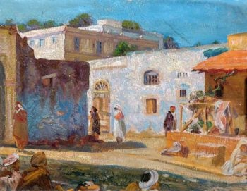 Street Scene in Tangiers | Christopher Williams | oil painting