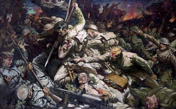 The Welsh at Mametz Wood | Christopher Williams | oil painting