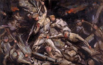 Mametz Wood (sketch) | Christopher Williams | oil painting