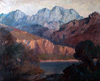 Sunset Glow on Cader Idris | Christopher Williams | oil painting