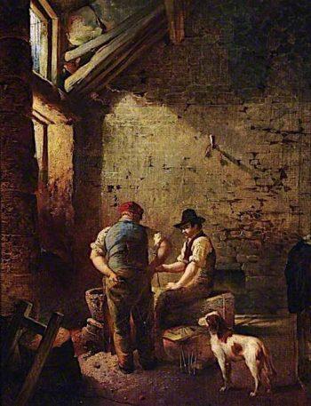 Grinders Hull   Godfrey Sykes   oil painting