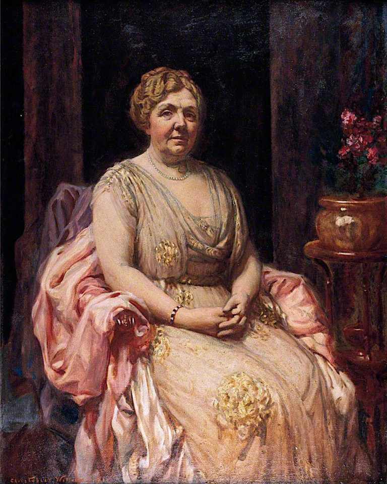 Dame Margaret Lloyd George   Christopher Williams   oil painting
