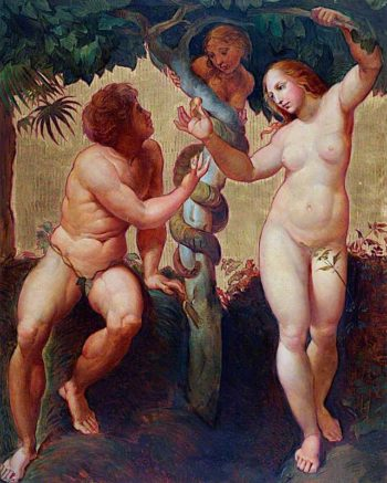 The Fall of Man (after Raphael) | Godfrey Sykes | oil painting