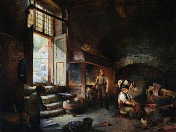 Sheffield Scythe Tilters | Godfrey Sykes | oil painting