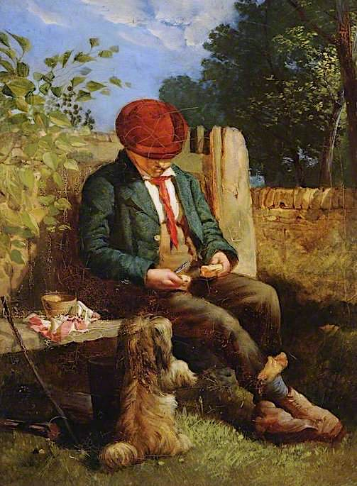 Lunch Time   Godfrey Sykes   oil painting