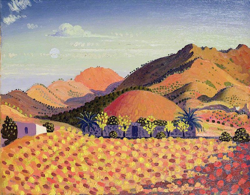 Spanish Landscape   Derwent Lees   oil painting