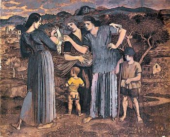Mothers and Children in a Landscape   Derwent Lees   oil painting