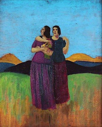 The Sisters in Wales | Derwent Lees | oil painting