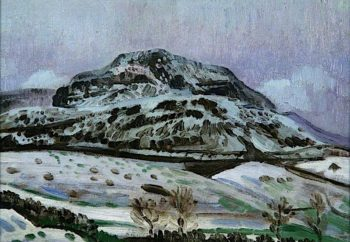 Welsh Landscape in Winter | Derwent Lees | oil painting