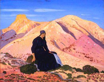 Lyndra in the Pyrenees | Derwent Lees | oil painting