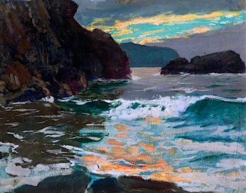 Evening; Cardigan Bay | Christopher Williams | oil painting