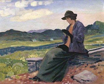Lyndra in Wales   Derwent Lees   oil painting