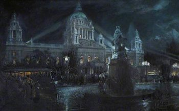 The City Hall and Titanic Memorial | Thomas Eyre Macklin | oil painting