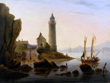 Cloch Lighthouse | Andrew Wilson | oil painting