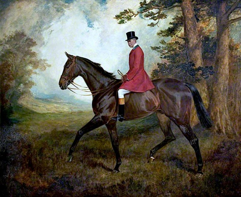 Colonel William Hall Walker on Buttercup | James Lynwood Palmer | oil painting