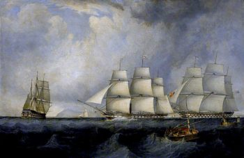 The Vernon and Other Vessels (HM Ships Edinburgh and Blenheim) | John Lynn | oil painting