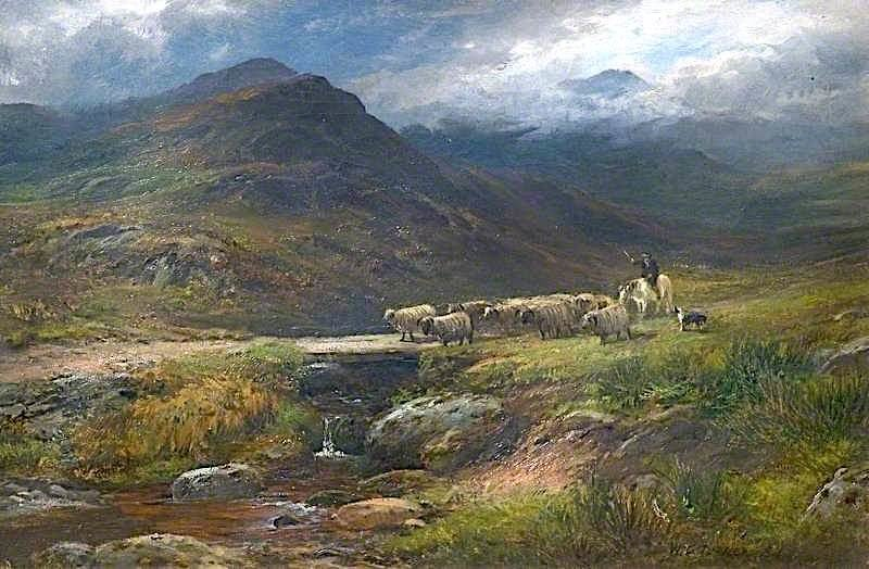 Landscape with Sheep | William Lakin Turner | oil painting