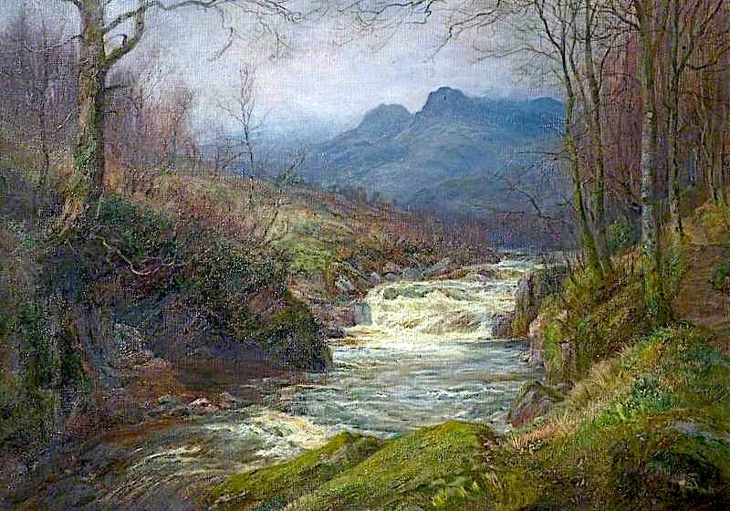 Flowing from the Fells | William Lakin Turner | oil painting