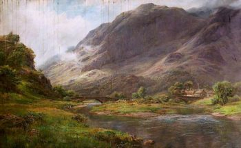 The Waters Meet above Derwentwater | William Lakin Turner | oil painting