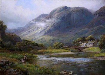 Grange - in - Borrowdale | William Lakin Turner | oil painting