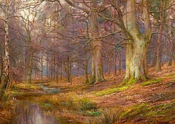 Evening in the Wood | William Lakin Turner | oil painting