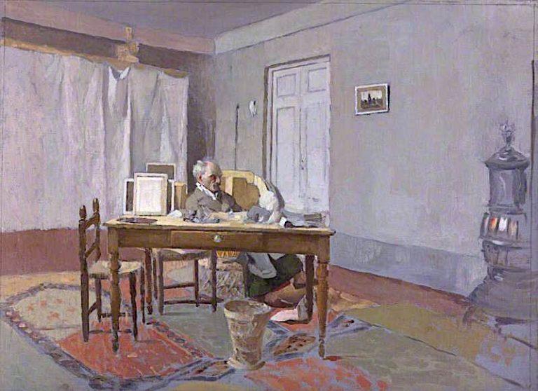 Maurice Henry Hewlett   James Kerr-Lawson   oil painting