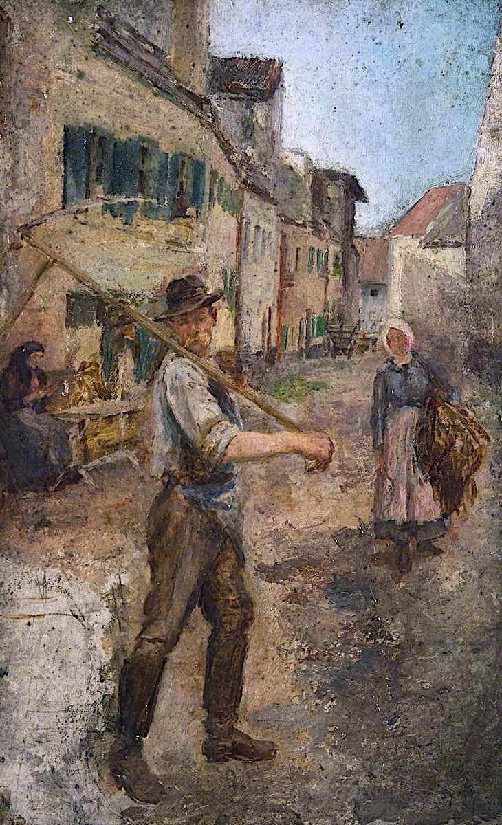 Man with a Scythe | James Kerr-Lawson | oil painting