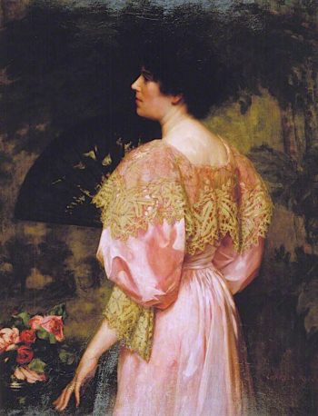 The Rose - Coloured Gown | Charles Henry Malcolm Kerr | oil painting