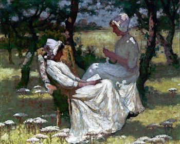 In the Orchard | Richard George Hinchcliffe | oil painting