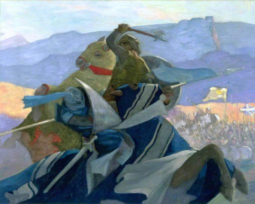 Robert the Bruce and de Bohun | Eric Harald Macbeth Robertson | oil painting