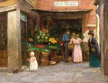 A Fruit Stall | Woodbine Kendall Hinchliff | oil painting