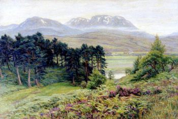 Scottish Mountain Landscape | Woodbine Kendall Hinchliff | oil painting
