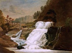 Waterfall in the Neath Valley | Penry Williams | oil painting