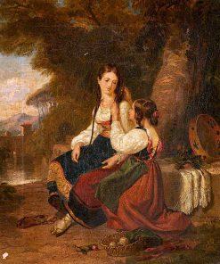 Italian Peasants   Penry Williams   oil painting