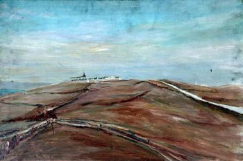 Plas Abon Kharoul and the Road to Jerusalem and the Mount of Olives | Caroline Emily Gray Hill | oil painting