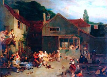 The Village Festival | David Wilkie | oil painting