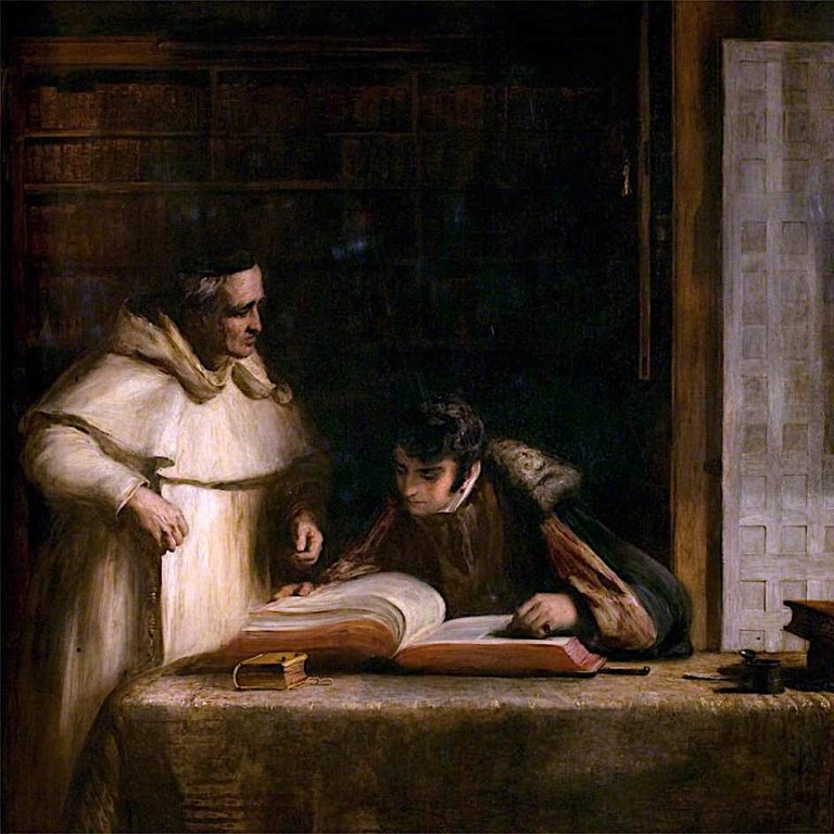 Washington Irving in the Archives of Seville | David Wilkie | oil painting